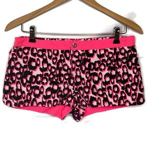 Ocean Pacific Pink and Black Cheetah Print Short